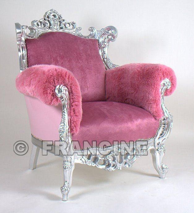 Fauteuil Feline, 3 soorten & kleuren Roze stof in klaterzilver frame