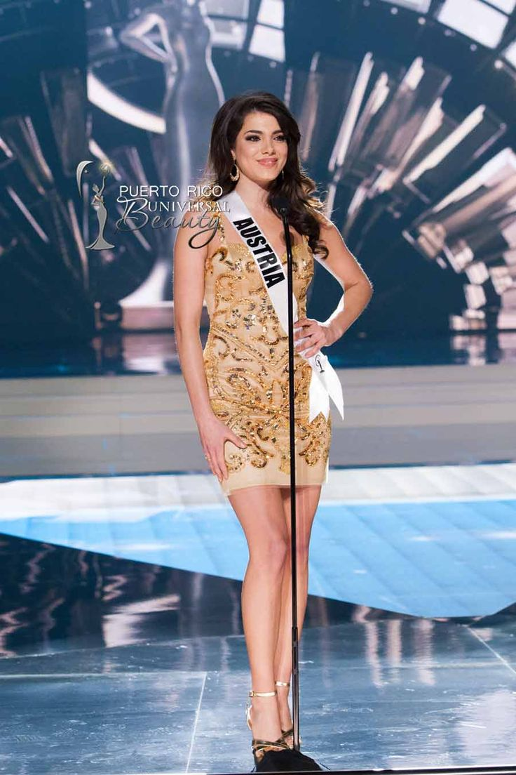 MISS UNIVERSE 2015 :: PRELIMINARY COMPETITION OPENING | Amina Dagi, Miss Universe Austria 2015, on stage in fashion by Sherri Hill and footwear by Chinese Laundry during the opening of The 2015 MISS UNIVERSE® Preliminary Show at Planet Hollywood Resort & Casino Wednesday, December 16, 2015. #MissUniverse2015 #MissUniverso2015 #MissAustria #AminaDagi #PreliminaryCompetition #Opening #LasVegas #Nevada