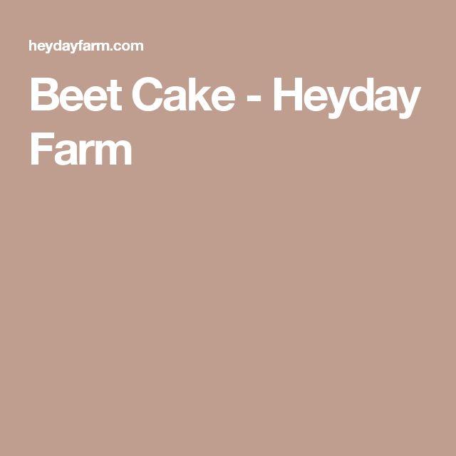 Beet Cake - Heyday Farm