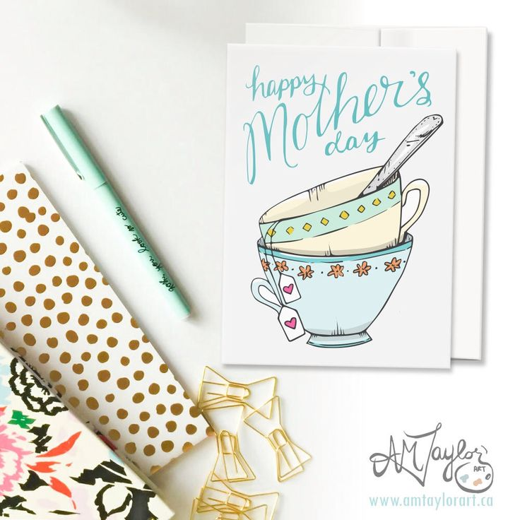 A personal favorite from my Etsy shop https://www.etsy.com/ca/listing/521308653/mothers-day-card-card-for-moms-teacups