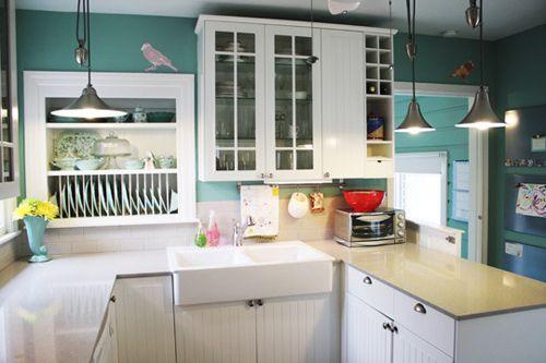 teal wall kitchen kitchen make
