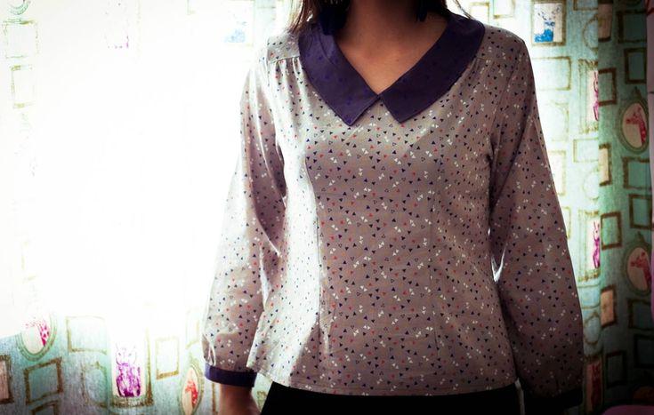 La blouse en Candy Flakes de Atelier Brunette par dans la bulle de clo