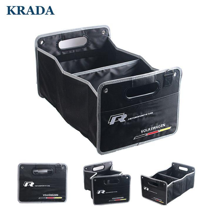 KRADA Car-styling for volkswagen vw golf 5 tiguan polo passat b5 b6 jetta touran touareg Mk4 mk6 mk7 Large Capacity Storage Box #exteriorcar