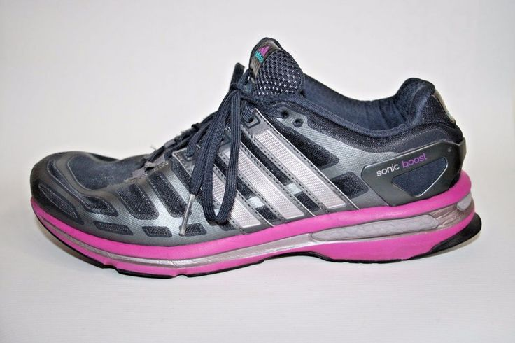 Adidas Sonic Boost Woman's Shoes Trainers Black Grey Pink Fitness Running 8 UK