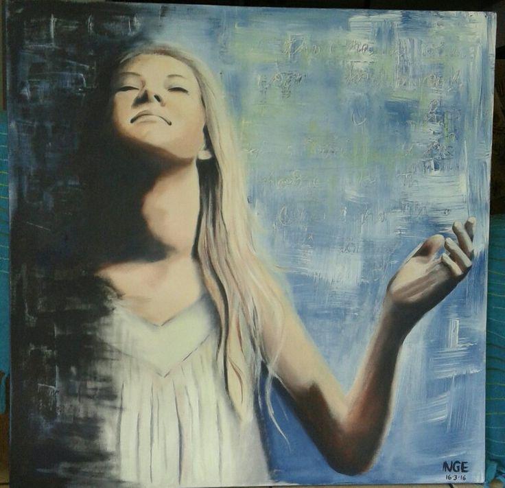 Salvation by Inge du Preez. Acrylic on canvas 1000X1000