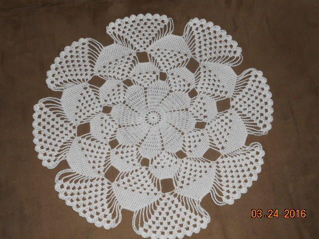 3D doily - Crochet creation by Charlotte Huffman