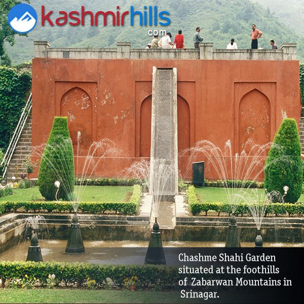 #ChashmeShahiGarden, meaning 'The Royal Spring' situated at the foothills of Zabarwan Mountains in #Srinagar(Kashmir) - Visit Here to Enjoy Holidays with Family & Friends!