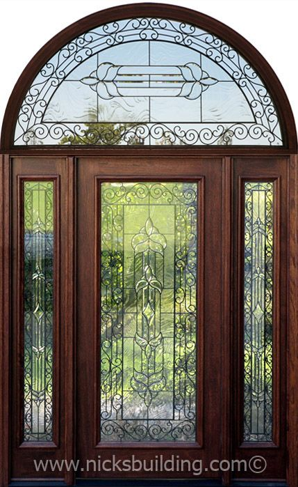 Imagine this on your front entrance! The entrance door has a beautiful wrought iron design but is sandwiched between glass for an easy clean! bought at www.nicksbuilding.com