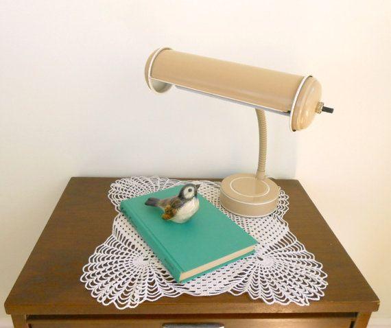 SALE...Industrial Metal Gooseneck Desk Lamp 1960's by my3luvbugs
