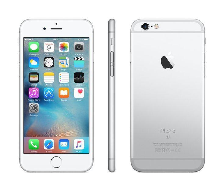 Apple iPhone 6s 16GB SIM-Free Smartphone - Silber (Zertifiziert und Generalüberholt) EUR 379,90