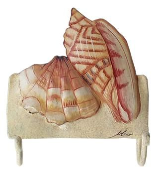 Pic Of Hand Painted Shells Hooks Handcrafted Seashell Bathroom Decor x