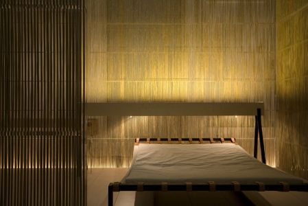"""Tsunago Japanese Interior House, (c) Design by Kengo Kuma.    Great """"composition"""" and usage of forms."""