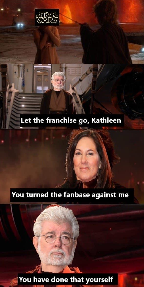 Pin By Ian Macinnis On Don T Underestimate The Force Star Wars Sequel Trilogy Funny Star Wars Memes Star Wars Jokes