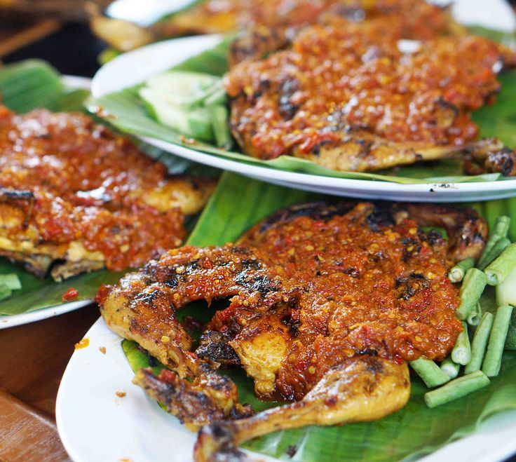 Grilled Chicken with Rujak Seasoning. Spicy yet delicious finger licking.