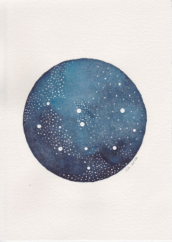 Abstract Painting . Circle and Dots . Star Planet Two by FiggyMoss, $12.00