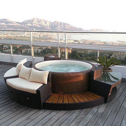 25 best indoor hot tubs ideas on pinterest for Piscine portable