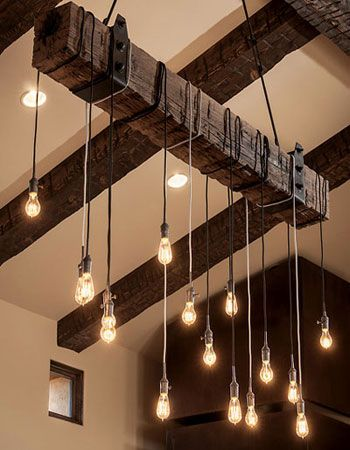 Rustik,ahşap,aydınlatma,edison , tavan aydınlatma
