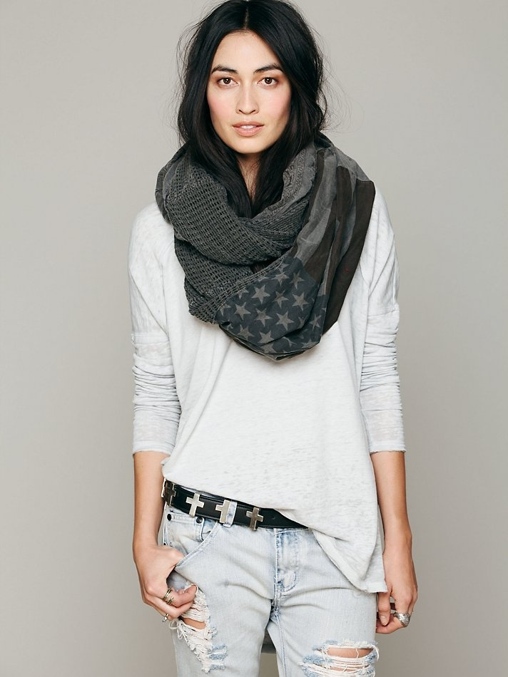 Free People American Flag Infinity Scarf http://www.freepeople.com/whats-new/american-flag-infinity-scarf/
