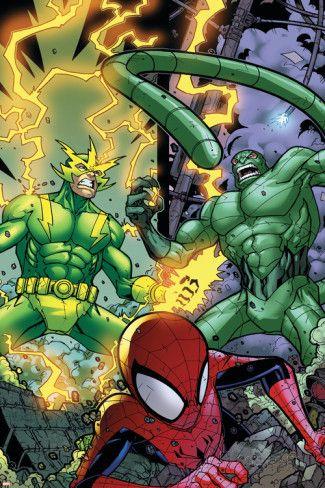 #Spiderman #Fan #Art. (Marvel Adventures Spider-Man #48 Group: Spider-Man, Electro and Scorpion) By: Jonboy Meyers. (THE * 5 * STÅR * ÅWARD * OF: * AW YEAH, IT'S MAJOR ÅWESOMENESS!!!™)[THANK Ü 4 PINNING<·><]<©>ÅÅÅ+(OB4E)