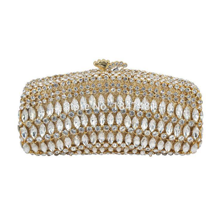 LaiSC red rhinestone clutch bag Luxury crystal clutch evening bag rainbow diamond banquet bag wedding pochette party purse SC110