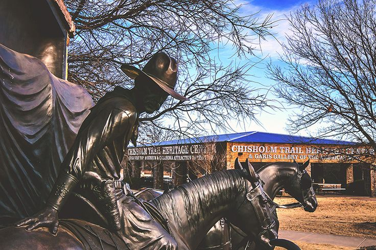It's only January, but this cowboy is anxious for spring, and green trees #OntheChisholmTrail in Duncan, OK.