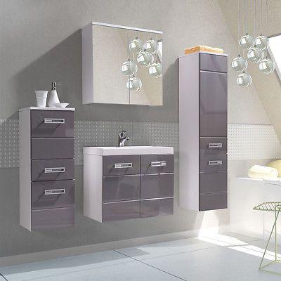 Badmöbel Set Amelia VI 5tlg. mit Waschbecken! Elegante Badezimmer Komplett! in Möbel & Wohnen, Möbel, Badmöbelsets | eBay