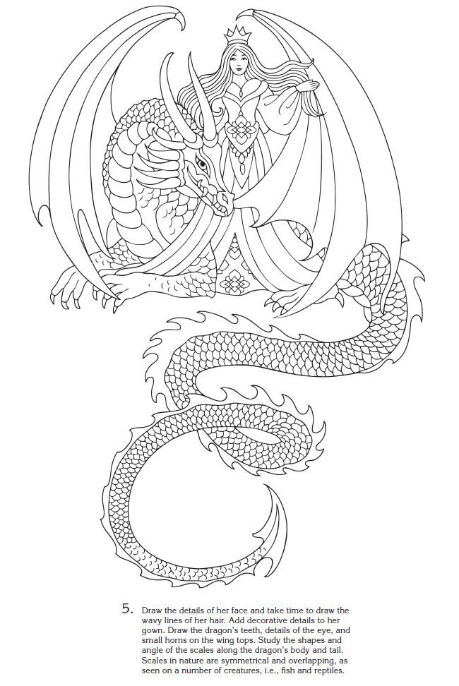 Welcome To Dover Publications Creative Haven How Draw Fantasy Figures