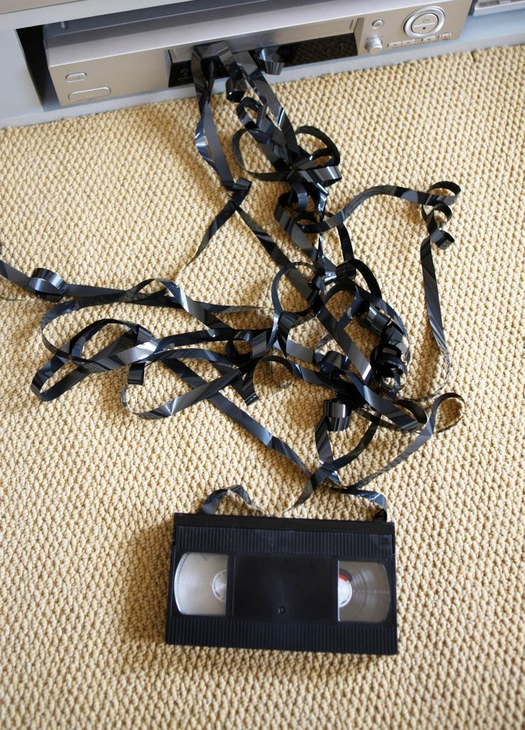 The black boxes you played in your VCR (another mystery to kids these days) were kind of clunky and you had to rewind them when you were done viewing. But the worst thing ever was when the film was pulled out — if you couldn't wind it back up, the days of watching that film were totally over.  - GoodHousekeeping.com
