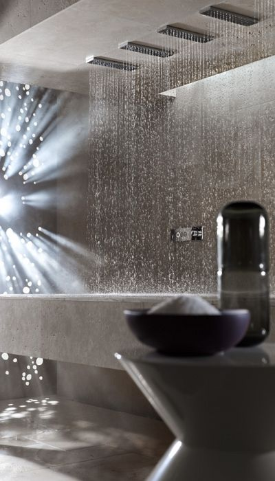 Horizontal Shower / Bathroom  Spa / Dornbracht
