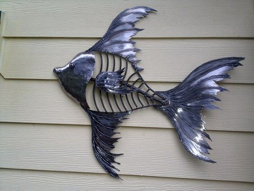 outdoor metal fish art