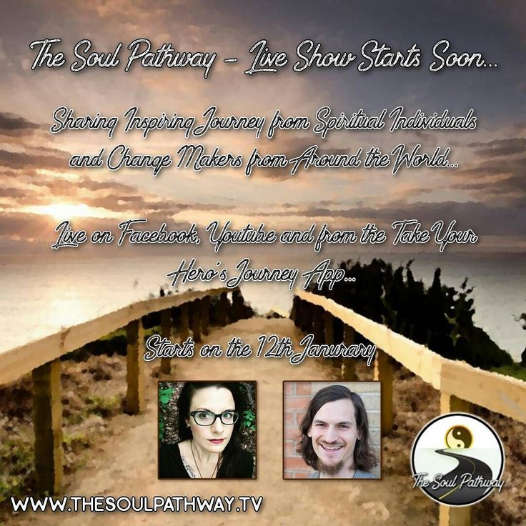 The #Soul #Pathway - Live Show Starting Soon... I am excited to begin the new year be relaunching my show. I will be interviewing inspiring spiritual individuals and change makers from around the world to share their incredible journey.  From their humble beginnings all the way through to where they are today. This will ultimately become their heros or heroines journey to inspire you to live on your soul path and in alignment to your dreams.  We will be live on the 12th of January with…