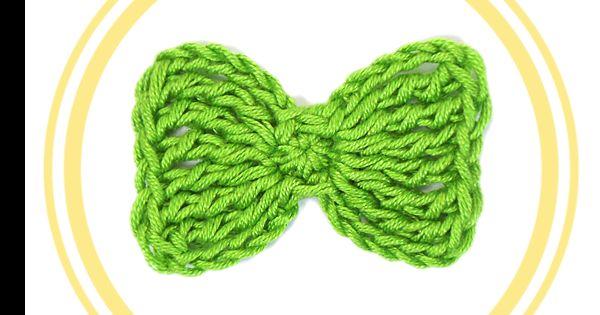 Prepara tu aguja de crochet para hacer este bonito lazo. ¡Podrás adornar desde vestidos hasta diademas!
