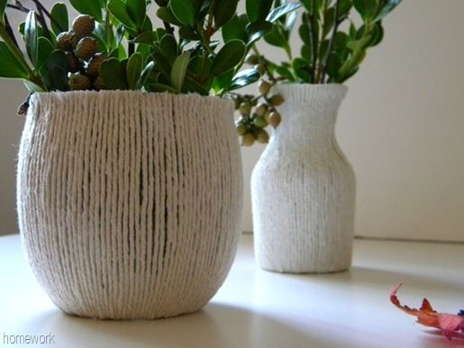 homework: today's assignment - be inspired {creative inspiration for home and life}: Fresh Look: twine vase
