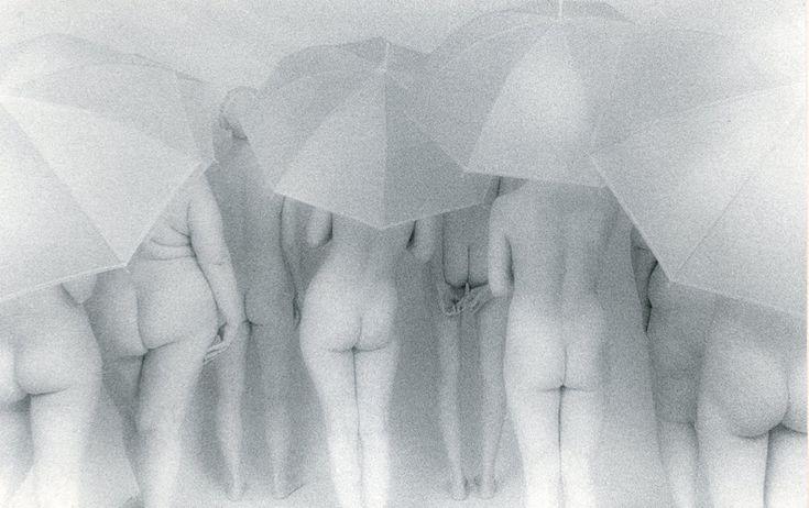 women with umbrellas (by lynn bianchi) [white]