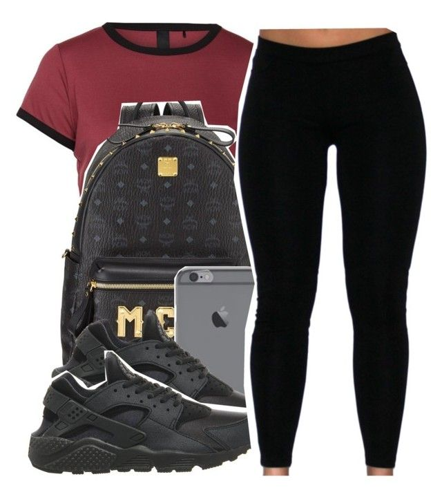 """""""Untitled #347"""" by lkeyshia ❤ liked on Polyvore featuring MCM and NIKE"""
