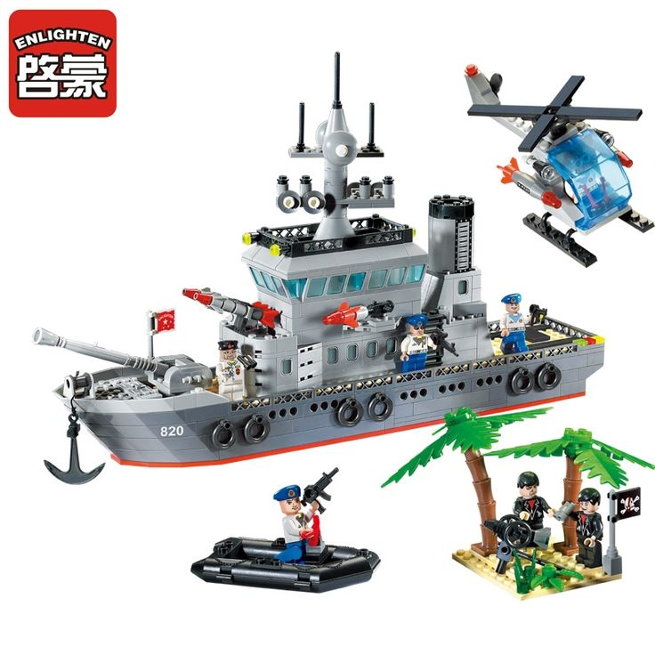 32.32$  Watch now - http://alivsg.shopchina.info/go.php?t=32808148596 - Enlighten New Blocks Navy Frigate Ship Assembling Building Blocks Military Series Blocks Girls&Boys Brick Toys For Children  #buyininternet