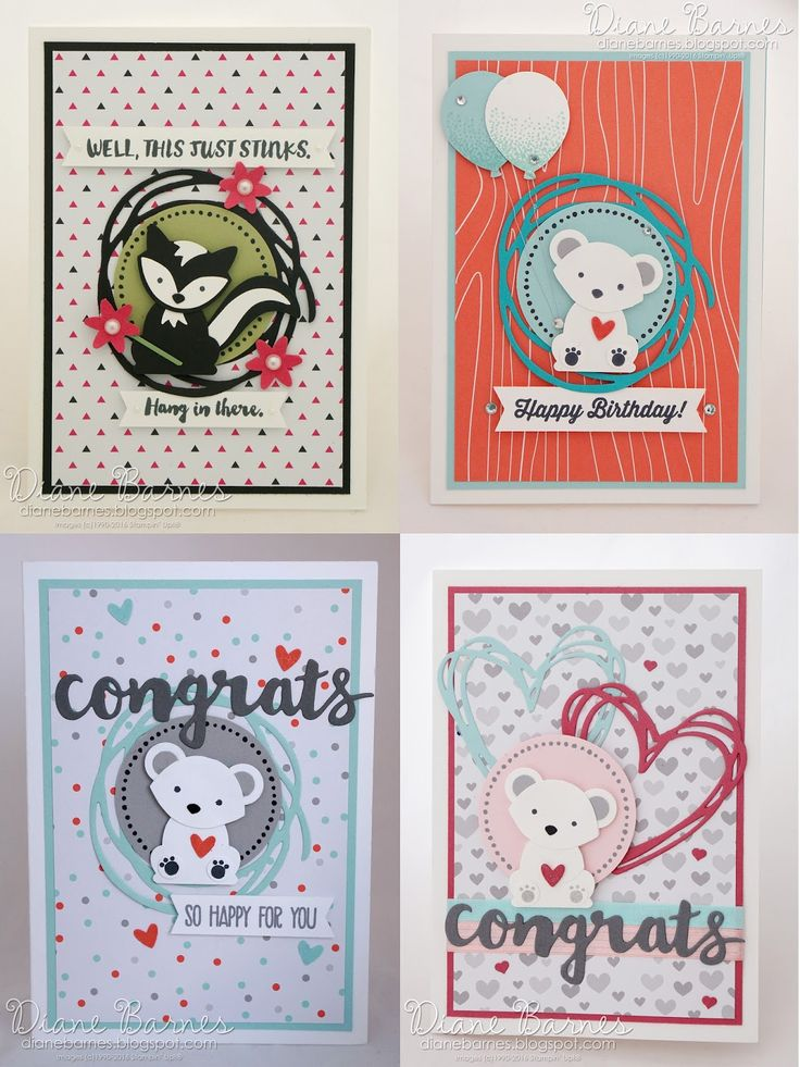 Cards made with Foxy Friends-Fox Builder stamp & punch & Sunshine Sayings-Sunshine Wishes bundles. By Di Barnes #colourmehappy 2016-17 annual catalogue