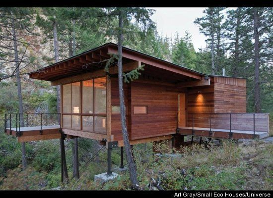 Nice 830 Square Feet Andersson Wise Architects Polson, Montana Perched On  Pillars Near A Granite And