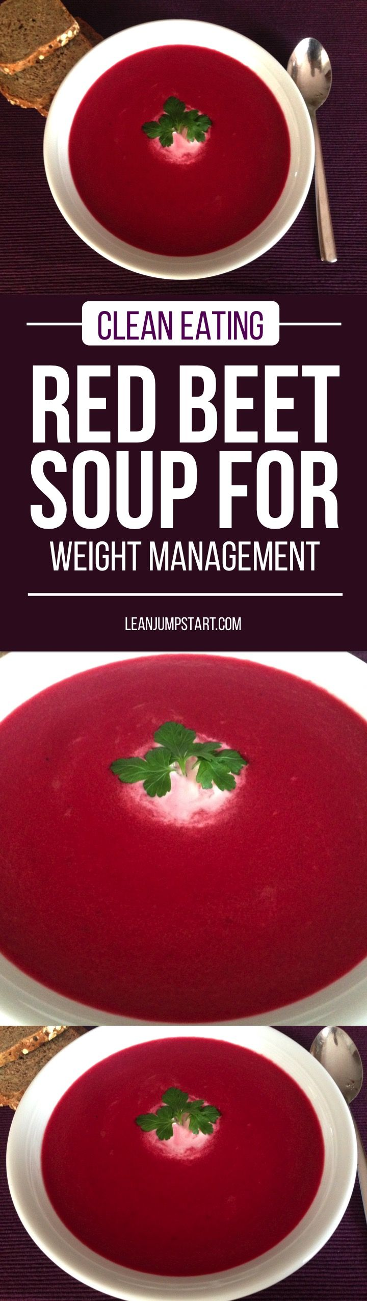 """Beetroot soup recipe: detox for body & soul + how to """"beet"""" high blood pressure #beets #redbeets via @leanjumpstart"""