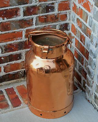 Antique-French-Heavy-COPPER-Farm-Farmhouse-Milk-Can-Jug-with-Lid. What a BEAUTY@