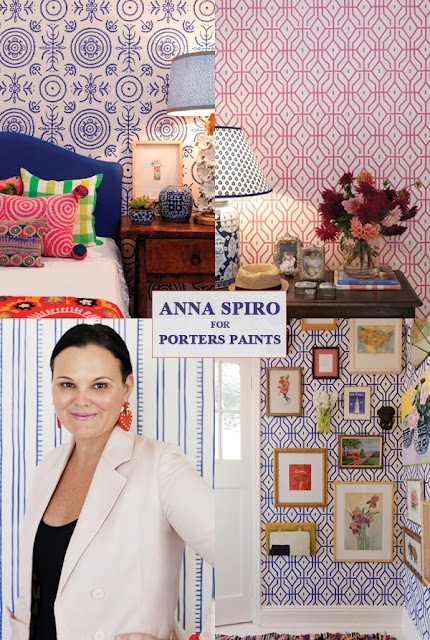 Anna Spiro wallpapers at Porters Paints...love.