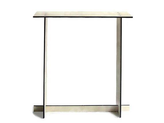 Laser cut wood foyer table wood entry tablemodern console