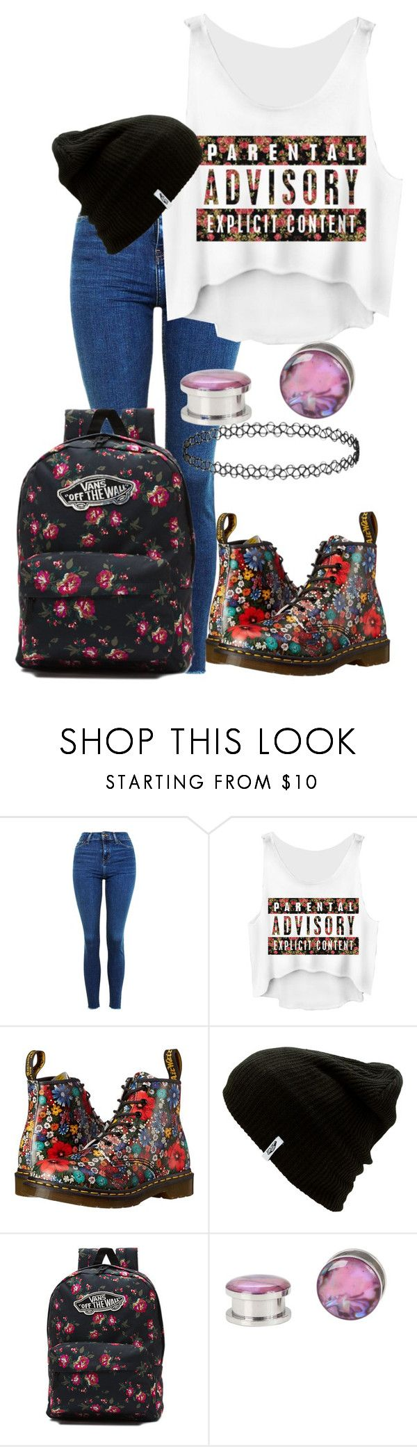 """Colin Cassady sings Blue Pants' theme song 😂😂😂"" by digital-minerva ❤ liked on Polyvore featuring Topshop, Dr. Martens and Vans"