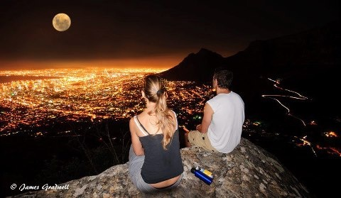 Full Moon from top of Lion's Head