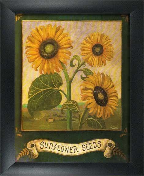 Kitchen Decor Catalogs: 2 Framed Garden Art Prints-Home/Kitchen Wall Decor