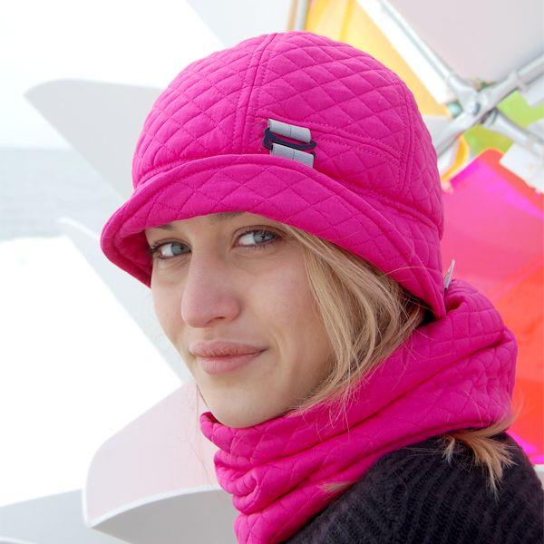 Alpine Quilt Cloche  and Neck Warmer by Puffin Gear #madeincanada #hat