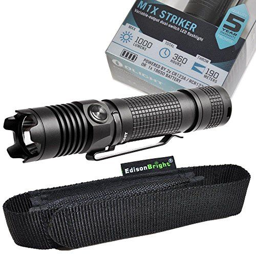 Olight M1X Striker Cree XM-L2 1000 Lumen tactical LED Flashlight with EdisonBright brand holster bundle https://besttacticalflashlightreviews.info/olight-m1x-striker-cree-xm-l2-1000-lumen-tactical-led-flashlight-with-edisonbright-brand-holster-bundle/