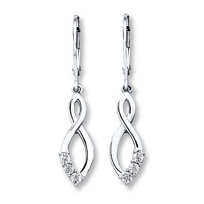 Remind your mom that you will love her forever with dangle infinity earrings.