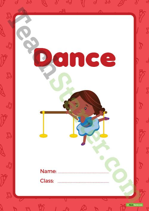 Dance Book Cover – Version 1 Teaching Resource