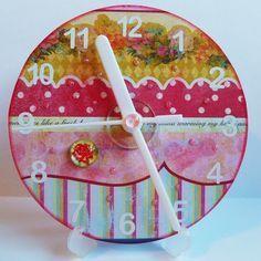 craft juice vintage CD clock